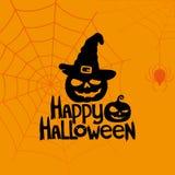 Bandiera di vettore Halloween felice Fotografie Stock