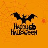 Bandiera di vettore Halloween felice Immagini Stock