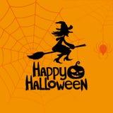 Bandiera di vettore Halloween felice Immagine Stock Libera da Diritti