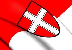 Bandiera di Vienna, Austria illustrazione vettoriale