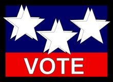 Bandiera di voto Immagine Stock