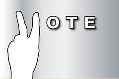 Bandiera di voto Immagine Stock Libera da Diritti