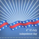 Bandiera di Wave degli S.U.A. Immagine Stock