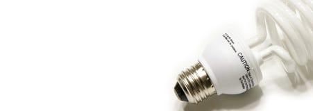 Bandiera di Web della lampadina Fotografie Stock