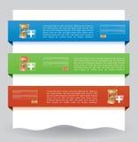 Bandiera di Web site di collegamento Immagine Stock