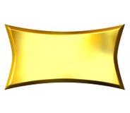 bandiera dorata 3D Fotografie Stock Libere da Diritti