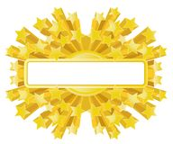 Bandiera dorata della stella royalty illustrazione gratis