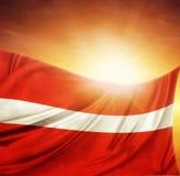 Bandiera e cielo Immagini Stock