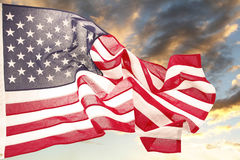 Bandiera e cielo Fotografia Stock
