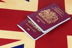 Bandiera e passaporti Fotografie Stock Libere da Diritti