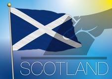 Bandiera e simbolo della Scozia Fotografie Stock Libere da Diritti