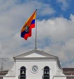 Bandiera ecuadoriana Immagini Stock Libere da Diritti