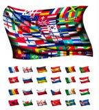 Bandiera enorme, consistente dei paesi differenti royalty illustrazione gratis