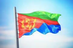 Bandiera eritrea Immagine Stock Libera da Diritti