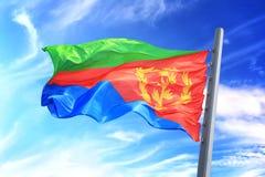 Bandiera eritrea Fotografia Stock
