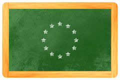 Bandiera europea del cerchio della stella illustrazione vettoriale