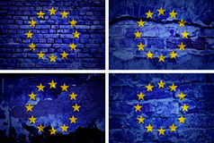 Bandiera europea di lerciume Fotografie Stock
