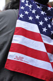 Bandiera fatta in U.S.A. Immagine Stock