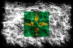 Bandiera federale del fumo di Distrito, Ciudad de Messico immagini stock