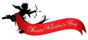 Bandiera felice di giorno dei biglietti di S. Valentino Fotografie Stock Libere da Diritti