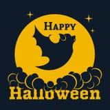 Bandiera felice di Halloween Illustrazione di vettore Fotografia Stock