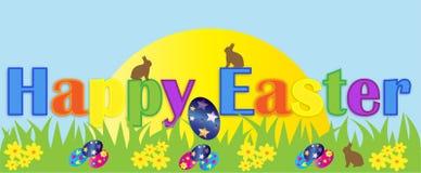 Bandiera felice di Pasqua Fotografie Stock Libere da Diritti