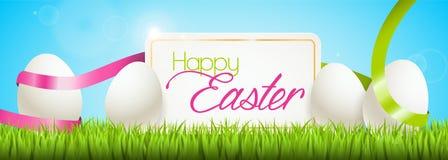 Bandiera felice di Pasqua Fotografie Stock