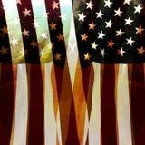 Bandiera filtrata degli Stati Uniti Immagine Stock