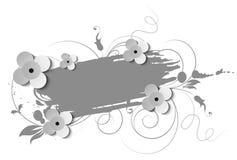 Bandiera floreale astratta royalty illustrazione gratis