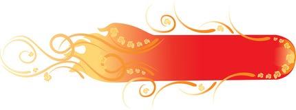 Bandiera floreale del fuoco di bellezza Immagini Stock Libere da Diritti