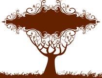 Bandiera floreale dell'albero Fotografia Stock