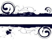 Bandiera floreale di Grunge Fotografia Stock