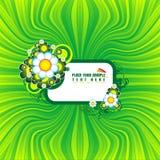 Bandiera floreale verde Immagine Stock Libera da Diritti