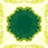 Bandiera floreale verde royalty illustrazione gratis
