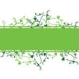 Bandiera floreale verde Fotografia Stock Libera da Diritti
