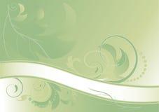 Bandiera floreale verde astratta. Cenni storici. Bandiera Immagine Stock
