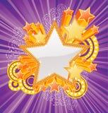 Bandiera a forma di stella Fotografia Stock