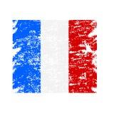 Bandiera Francia, struttura di lerciume di lerciume del fondo del colpo della spazzola Vettore royalty illustrazione gratis