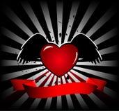 Bandiera Funky del cuore Immagine Stock Libera da Diritti
