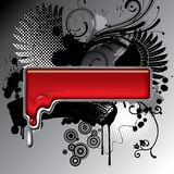 Bandiera fusa del metallo Fotografia Stock Libera da Diritti