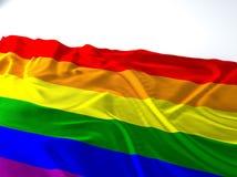 Bandiera gay d'ondeggiamento Fotografia Stock