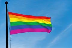 Bandiera gay dell'arcobaleno Fotografia Stock Libera da Diritti
