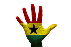 bandiera Ghana della palma Fotografie Stock