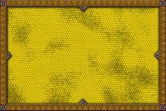 Bandiera gialla della lucertola Fotografie Stock
