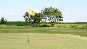 Bandiera gialla di golf archivi video