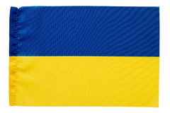 Bandiera gialla e blu dell'Ucraina Fotografie Stock Libere da Diritti