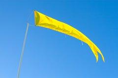 Bandiera gialla luminosa Fotografie Stock