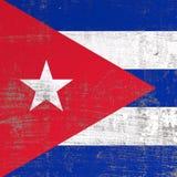 Bandiera graffiata di Cuba royalty illustrazione gratis