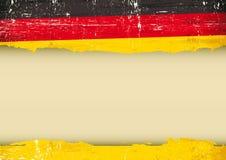 Bandiera graffiata tedesco Fotografie Stock Libere da Diritti