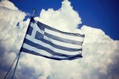 Bandiera greca Immagine Stock Libera da Diritti